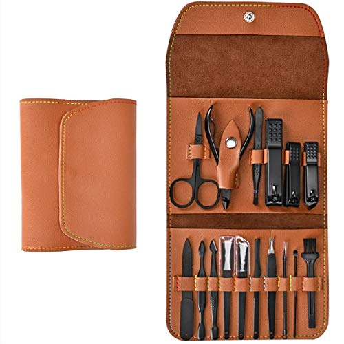 16 Pieces Manicure Set with PU Leather Case, Personal Care Tool, Gifts for Men/Women, Anniversary, Christmas, Birthday… 1