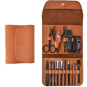 16 Pieces Manicure Set with PU Leather Case, Personal Care Tool, Gifts for Men/Women, Anniversary, Christmas, Birthday… 2