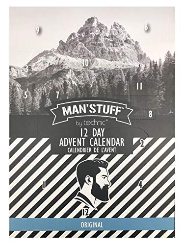 Man'Stuff 12 Day Christmas Advent Calendar Containing Assorted Toiletries For Men - Limited Edition