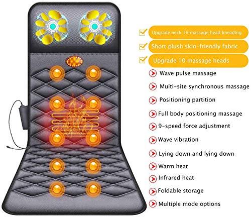 Q&Z Materassino Da Massaggio,Pieghevole Shiatsu Materasso Massaggiante Materasso Massaggiante...