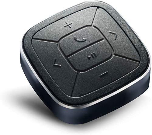 TUNAI Bluetooth 5.0 メディアボタン ワイヤレス万能リモコン スプラッシュプルーフ IPX5 ボタンシリーズ スマートフォン iPhoneアプリ 車載 自転車 音楽の再生/停止 自撮りシャッター機能付き Siri カメラ ビデオ録画手元操作 iOS Androidデバイス用
