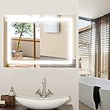 WeFun LED Miroir de Salle de Bain Miroir Mural avec éclairage commutateur...