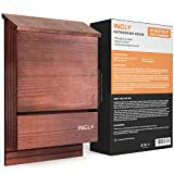 INCLY Bat House Kit for Outdoors 15'x9.2'x3.2' Shelter Box Roosting Double Chamber Dark Natural Cedar Wood, Pre-Finished Easy to Install