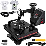 VEVOR 12X10 Inch Heat Press Dual Digital Heat Press Machine 650W Swing...