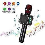 Microphone Karaoké Sans Fil, Cocopa Bluetooth Micro Portable Haut Parleur Intégré Chanter Player Karaoké Compatible avec iPhone Android Smartphone pour KTV à la Maison/Soirée