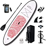 FEATH-R-LITE Inflatable 10'×30'×6' Ultra-Light (17.6lbs) SUP for All Skill Levels Everything Included with Stand Up Paddle Board, Adj Paddle, Pump, ISUP Travel Backpack, Leash, Waterproof Bag