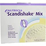 Scandishake Weight Gain Instant Shake Mix Powder, Vanilla, 3 Ounce Packet - Box of 4