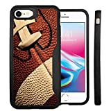 Untouchble Case for Apple iPhone 8 / iPhone 7 Case [Gummy Bumper] iPhone 8 Case, Ultra Slim Flexible Skin Design Bump Shock Protector - Football