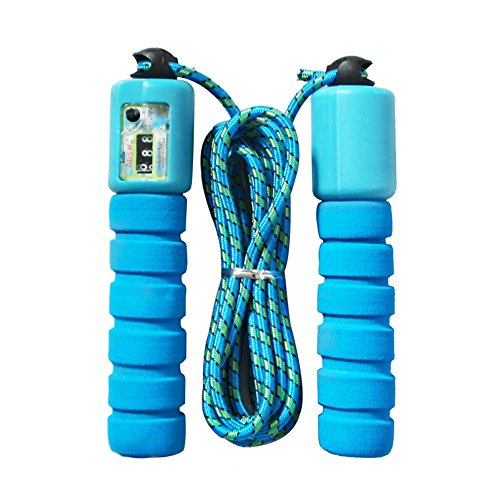 VANKER Fitness Random Color Adjustable Counting Jump Skipping Rope with electronic Counter