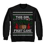 This Girl Loves Fruit Cake Christmas Ugly Sweater Shirt - Noel Merry Xmas Sweatshirt