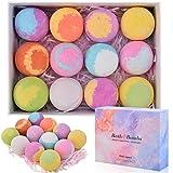 ShinePick Bombe de Bain, 12PCS Coffret Cadeau Boule de Bain Coloré,Sel de Bain Aux...