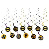 American Greetings Lego Batman Hanging Swirl Decorations, Multicolor, 12-Count