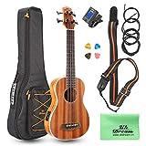 Uk Dream Ukulele de basse électro acoustique, soprano Sapele Wood, kits de...