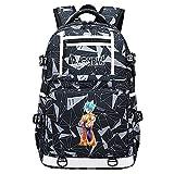 GOYING Dragon Ball Anime Cosplay Bookbag College Bag Mochila Mochila Escolar con Puerto de Carga USB-B
