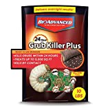 BioAdvanced 700740M 24-Hour Grub Plus for Lawns Ant, Tick, and Insect Killer, 10-Pounds, Ready-to-Spread Granules, Standard Bag
