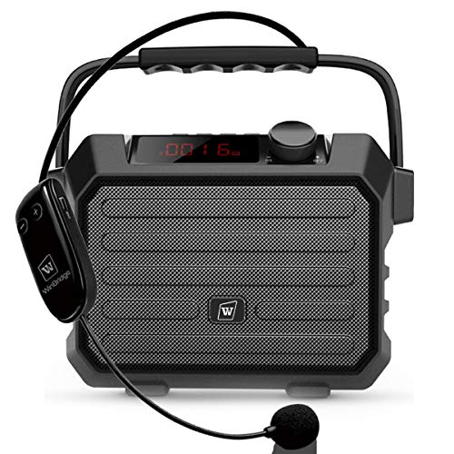 W WINBRIDGE Portable PA Speaker Sound System with Bluetooth Headset Microphone 30W Echo, Wireless Loudspeaker & Voice Amplifier Rechargeable, Small Size, Handy and Multi-functional H5