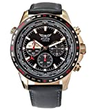 ✔ SCORE INSTANT STYLE POINTS with this Statement-making Rose Gold Tone AVIATOR Chronograph Watch and Very Comfortable Black Genuine Leather Strap Scratch Resistant Protective Mineral Glass and Aviator Logo Laser Engraved Buckle at a Great Price ✔ PRE...