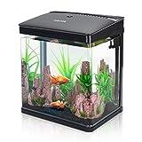 Nobleza - Aquarium en Verre avec Couvercle et lumières LED,...