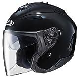 HJC IS-33 II Open-Face Motorcycle Helmet (Black, Large)