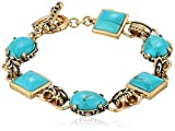Barse Jubilee Bronze and Turquoise Toggle Bracelet, 8'