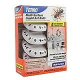 TERRO T334 Multi-Surface Liquid Ant Baits – 4 Discreet Bait Stations , Orange