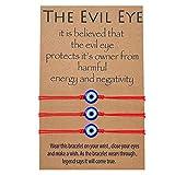 MANVEN Evil Eye Kabbalah Red String Bracelets Protection Nazar Wish Good Luck Bracelet for Women Men Teens Girls