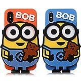耐衝撃 立体 怪盗グルーのミニオン iPhone11Pro対応 ブルー iPhone11プロ ミニオンズ シリコン……