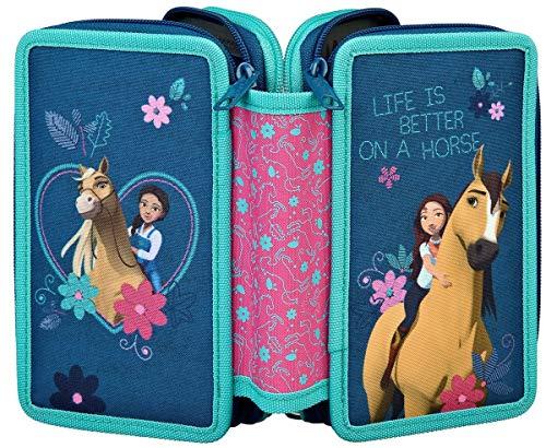 Dream Works Spirit - Astuccio per la scuola, con motivo di cavalli, per ragazze