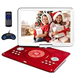 16.9' Portable DVD Player with 14.1' Large Swivel Screen, Kids DVD Player Portable for Travel with 4...