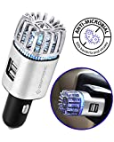 Craftronic NanoActive   Car Air Purifier & Dual Fast Charge USB   5.6 Million Negative Ion Anti-Microbial, Eliminates PM 2.5 Smoke, Pollutants, Virus, Bacteria, Odors   Relieve Allergy (Silver)