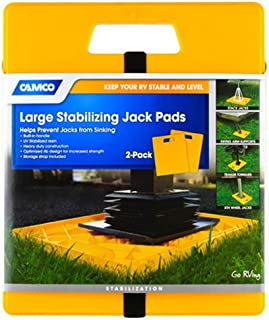 Camco 44541 Large RV Stabilizing Jack Pads Without Handle, Helps Prevent Jacks from..