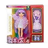 Rainbow High Collectible Fashion Dolls - Abiti Firmati, Accessori e Supporto - Violet Willow - Serie Rainbow High