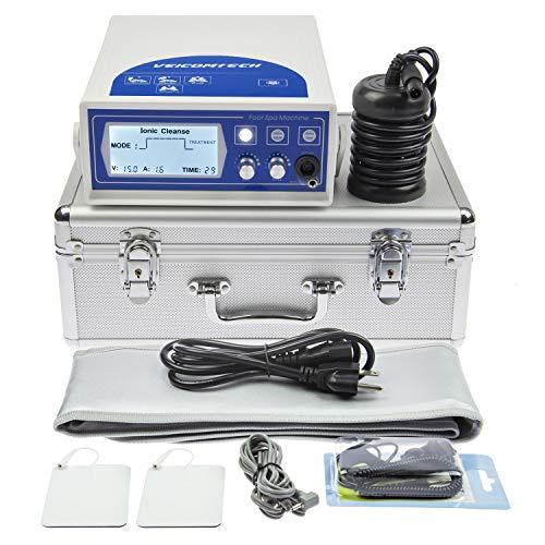 veicomtech 2020 Upgrade Ionic Detox Foot Bath Machine, Foot Detox Machine Ionic Detox Foot SPA System with Wrist Strap, Far Infrared Waistbelt, Array and TENS Pads (Blue)