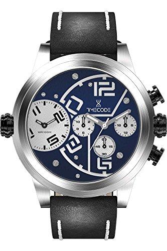 Timecode Chip 1958 Herren-Armbanduhr Dual Time Quarz TC-1001-03