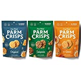 ParmCrisps Spicy 3 Pack Variety, 1.75oz Original, Spicy Queso, Jalapeno. 100% Cheese Snack, Keto Snack, Gluten Free, Sugar Free, Low Carb, High Protein