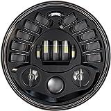 J.W. Speaker 0555011 Model 8790 LED High and Low Beam Adaptive Headlight with Black Inner Bezel, 1 Pack