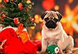 Jigsaw Puzzles 1500 Pieces for Adults - Christmas Tree Pug - Wooden Puzzle Toys Home Decor