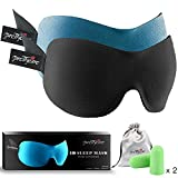 PrettyCare 3D Sleep Mask with 2 Pack Eye Mask for Sleeping - Contoured...