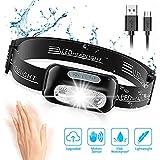 Cocoda Lampe Frontale, Headlamp USB Rechargeable Puissante - 160 LM, Détecteur de Mouvement, IPX6...