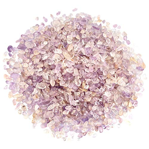 SUNYIK Ametrine Tumbled Chips Crystal Crushed Pieces...