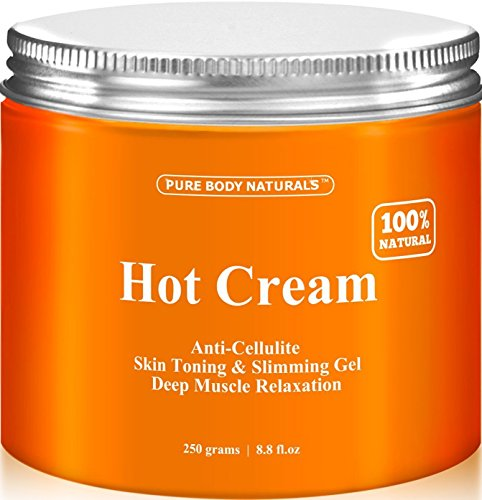 Pure Body Naturals Hot Cream, for Cellulite and Muscle Relaxation, 8.8 Ounce 1