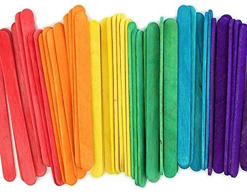"""4.5"""" Colored Wooden Craft Sticks - Pack of 100ct"""