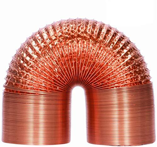HG Power, tubo flessibile in alluminio da 125 mm, 5 m, resistente al calore, tubo di ventilazione flessibile, isolamento termico, tubo di scarico dell'aria (rame)