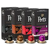 Peet's Coffee Espresso Capsules Variety Pack, 40 Count Single Cup Coffee Pods, Compatible with Nespresso Original Brewers, Crema Scura, Nerissimo, Ricchezza, Ristretto