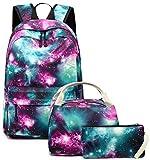 BLUBOON School Backpack Teens Girls Boys Kids School Bags Bookbag with Lunch bag pencil pouch (Green)