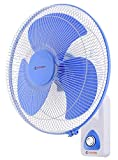 Candes 400mm 3 Blade Automatic Oscillation Wall Fan With 2 Year Warranty, (White Blue)