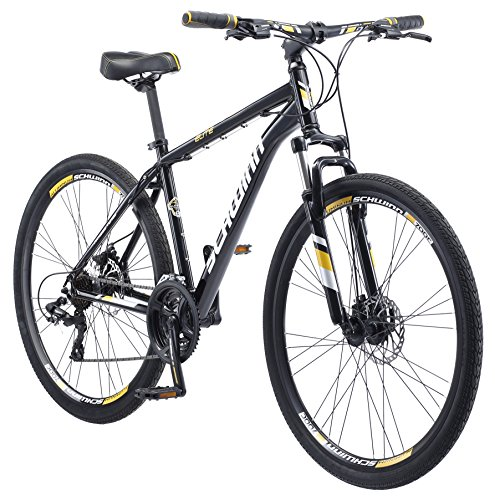 Schwinn GTX Comfort Hybrid Bike, GTX Elite, 18-Inch Frame, Black/Yellow