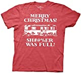 National Lampoon Christmas Vacation Sh#@%er was Full T-Shirt (Red, Large)