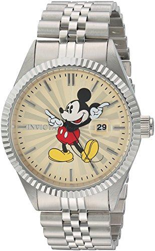 Invicta 22769 Disney Limited Edition - Mickey Mouse Herren Uhr Edelstahl Quarz Champagnerfarbe Zifferblat