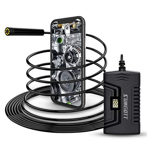 sumgott Endoscopio WiFi, 1080P Full HD Telecamere di ispezione, Telecamera endoscopica per Android e iOS Smartphone/Tablet
